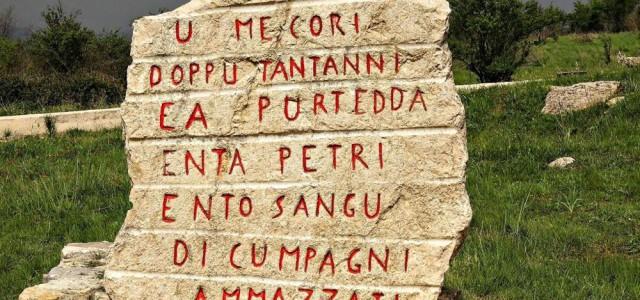 Lapide commemorativa a Portella della Ginestra